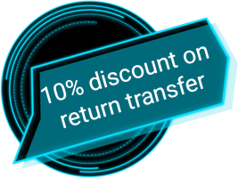 10% discount on return transfer