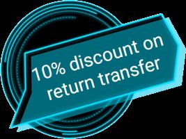 10% discount on return transfer
